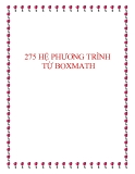 257 Bài tập về hệ phương trình năm 2014 - Kèm hướng dẫn giải