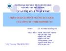 Tiểu luận: Phân tích chuỗi cung ứng xúc xích của công ty TNHH SHINSHU NT