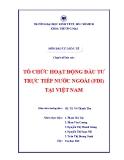 Tiểu luận: Tổ chức hoạt động đầu tư trực tiếp nước ngoài (FDI) tại Việt Nam