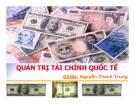 Thuyết trình về Quản trị tài chính quốc tế