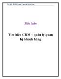 Tiểu luận: Tìm hiểu về CRM - quản lí quan hệ khách hàng