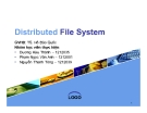 Tiểu luận: Distributed File System