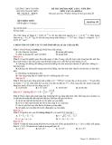 Đề thi thử  ĐH lần 1 Vật lý khối A 2014 – THPT chuyên Ng. Quang Diêu – Mã đề 132 (kèm Đ.án)