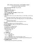 Đề cương sinh hoạt chủ nhiệm tuần 7 -Hóa học 10 - GV.P.T.Sâm