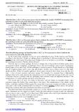 Đề thi thử ĐH môn Tiếng Anh - Sở GD&ĐT Vĩnh Phúc lần 1 (2013-2014) đề 161