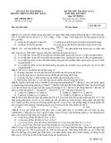 Đề thi thử ĐH môn Sinh học - THPT Lương Đắc Bằng lần 2 (2013-2014) đề 178