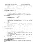Đề thi thử tốt nghiệp THPT môn Toán - THPT Lương Thế Vinh đề 08