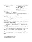 Đề thi chọn HSG cấp tỉnh môn Toán học lớp 12 kèm đáp án