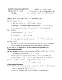 Đề thi thử tốt nghiệp THPT môn Toán - THPT Lương Thế Vinh đề 03