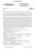Đề thi thử ĐH môn Tiếng Anh - THPT Đoàn Thượng lần 1 (2013-2014) đề 208