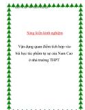 SKKN: Vận dụng quan điểm tích hợp vào bài học tác phẩm tự sự của Nam Cao ở nhà trường THPT