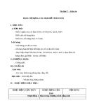 Giáo án Tin học 7 bài 4: Sử dụng các hàm để tính toán