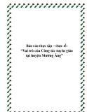 Báo cáo thực tập Vai trò của Công tác tuyên giáo tại huyện Mường Ảng