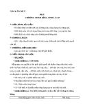 Giáo án Tin học 7 bài 1: Chương trình bảng tính là gì