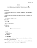 Giáo án Địa lý 8 bài 1: Vị trí địa lí, địa hình và khoáng sản