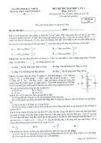 Đề thi thử Đại học lần 4 môn Vật lý - THPT chuyên KHTN- Mã đề 357