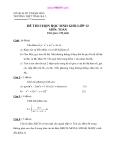 4 Đề thi HSG Toán 12 (Kèm đáp án)