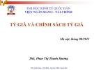 Bài giảng Tài chính quốc tế: Chương 4 - ThS. Phan Thị Thanh Hương