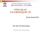 Bài giảng Tài chính quốc tế: Chương 1 - ThS. Phan Thị Thanh Hương