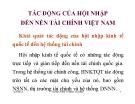 Bài giảng Tác động của hội nhập đến nền tài chính Việt Nam
