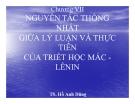 Bài giảng Triết học Mác Lênin: Chương 7 - TS Hồ Anh Dũng