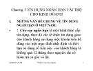 Bài giảng Nghiệp vụ ngân hàng thương mại: Chương 3 - PGS.TS Trần Huy Hoàng