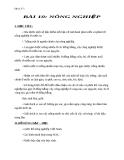Giáo án Địa lý 5 bài 10: Nông nghiệp