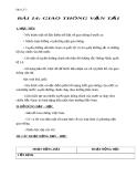 Giáo án Địa lý 5 bài 14: Giao thông vận tải