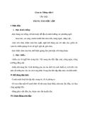 Bài Tập đọc: Trung thu độc lập - Giáo án Tiếng việt 4 - GV.N.Phương Hà