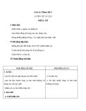 Bài Luyện từ và câu: Động từ - Giáo án Tiếng việt 4 - GV.N.Phương Hà