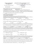 Đề thi thử ĐH môn Vật lí - THPT Tứ Kỳ (2012 – 2013) lần 1 đề 686
