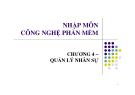Bài giảng Nhập môn công nghệ phần mềm: Chương 4 - GV. Trương Minh Thái