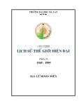 Giáo trình Lịch sử thế giới hiện đại (1945 - 1995): Phần 1 - Ths Nguyễn Văn Chiến