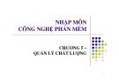 Bài giảng Nhập môn công nghệ phần mềm: Chương 5  -  GV. Trương Minh Thái