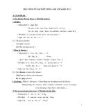 Đề cương ôn tập HK1 tiếng Anh lớp 6