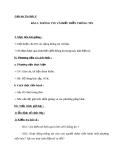 Giáo án Tin học 6 bài 2: Thông tin và biểu diễn thông tin