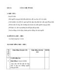 Giáo án TNXH 1 bài 13: Công việc ở nhà