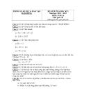 Tổng hợp đề kiểm tra học kì 1 môn Toán lớp 6 năm 2011-2012 (kèm đáp án)