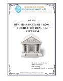 Tiểu luận: Bức tranh của hệ thống tổ chức tín dụng tại Việt Nam