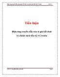 Tiểu luận: Hiệu ứng truyền dẫn của tỷ giá hối đoái và chính sách tiền tệ ở Croatia