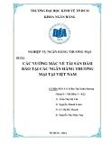 Tiểu luận: Các vướng mắc về tài sản đảm bảo tại các ngân hàng thương mại tại Việt Nam