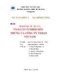Tiểu luận: Ngoại tác tiêu cực vấn đề gây ô nhiễm môi trường của công ty Vedan Việt Nam