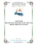 Tiểu luận: Bội chi ngân sách nhà nước Việt Nam trong thời gian gần đây