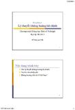 Bài giảng Tài chính phát triển: Bài 6 - Đỗ Thiên Anh Tuấn