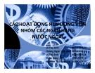 Thuyết trình: Các hoạt động huy động vốn nhóm các ngân hàng nước ngoài