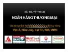 Thuyết trình: Các sản phẩm huy động vốn và lãi suất huy động Việt Á, Kiên Long, Đại Tín, SCB, VNTN