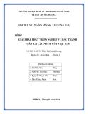 Tiểu luận: Giải pháp phát triển nghiệp vụ bao thanh toán tại các ngân hàng thương mại của Việt Nam