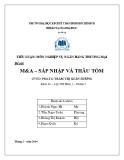 Tiểu luận: M&A – sát nhập và thâu tóm