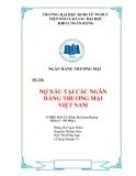 Tiểu luận: Nợ xấu tại các ngân hàng thương mại Việt Nam