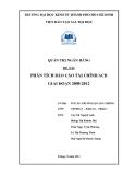 Tiểu luận: Phân tích báo cáo tài chính ACB giai đoạn 2008-2012